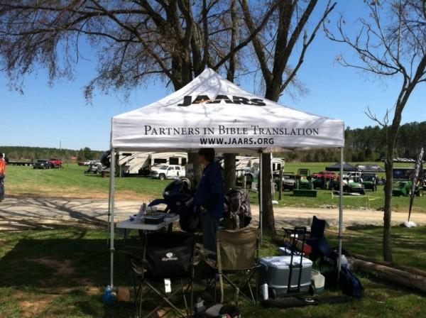 JAARS Tent at Uwharrie, NC 4WD Jamboree